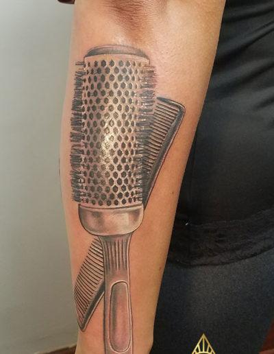 Brush Comb Tattoo