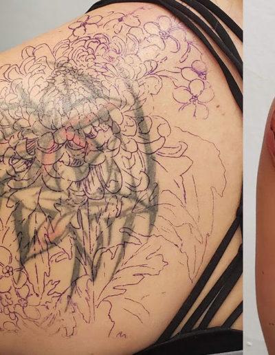 Chrysanthemum Correction Tattoo