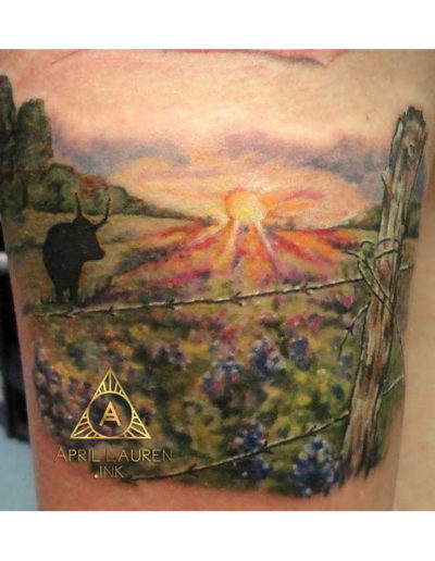 Field Fence Tattoo