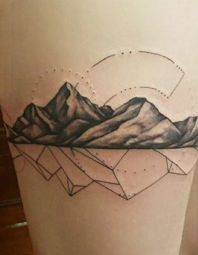 Mountains Reflection Tattoo
