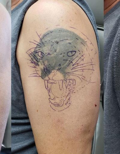 Panther Animal Correction Tattoo