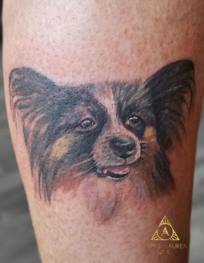 Small Dog Pet Portrait Tattoo