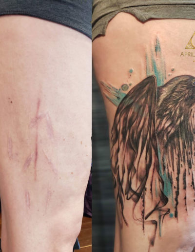 Bird Correction Tattoo