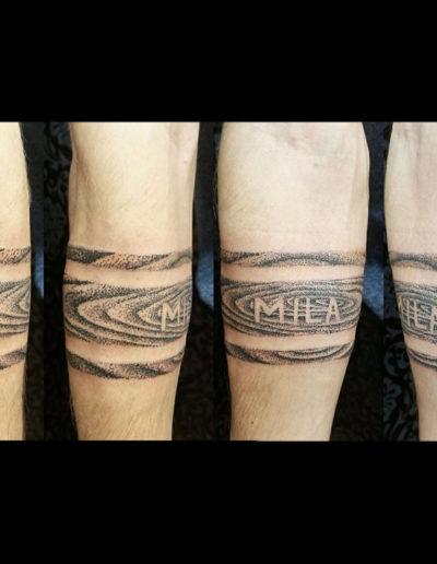 Wood Grain Tattoo