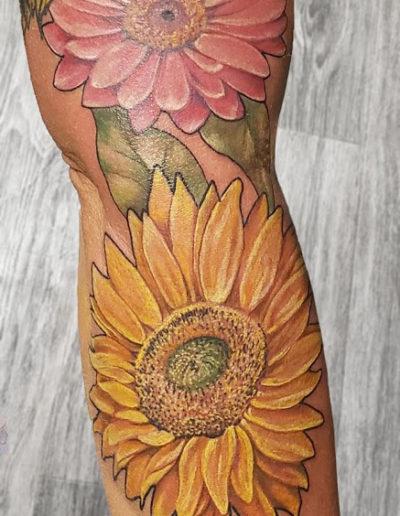 Sunflower Daisy Tattoo