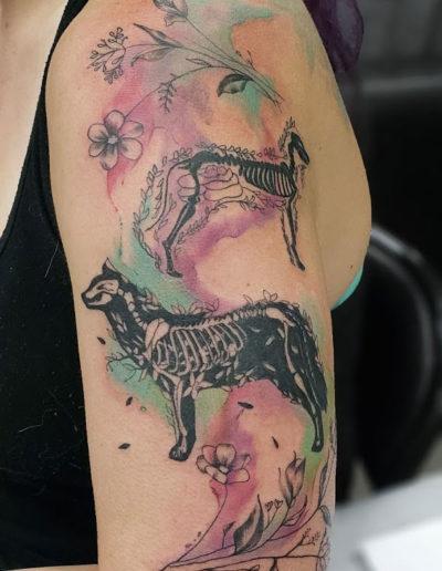 Abstract Animal Xray Tattoo